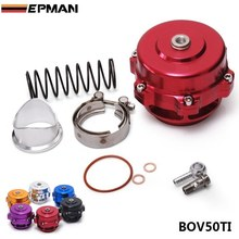EPMAN - Universal Jdm 50mm V Band Blow Off Valve BOV Q Typer w/ Weld On Aluminum Flange with logo EP-BOV50TI(China)