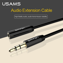 USAMS 3.5 mm Plug Jack 1m 2m AUX Audio Cable Stereo from Man to Woman in Headphones Headset, PC Wire, Telephone Cable