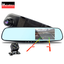 full hd 1080p dual lens car camera rearview mirror auto dvrs cars dvr night vision parking video recorder registrator dash cam