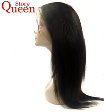 Queen Story Hair Pre Plucked 360 Lace Frontal Closure 100% Brazilian Remy Human Hair Straight Natural Color 10-22inch Free Ship