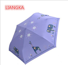 LIANGKA UV protection umbrella, folding umbrella, creative pencil umbrella, gift cartoon children's umbrella(China)