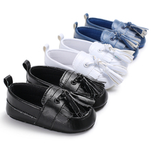 Kids Loafers Baby Boy Walking Shoes Newborn Soft Cotton First Walker Babe Handsome Fringed Prewalker Babe Pram Beginner Footwear(China)