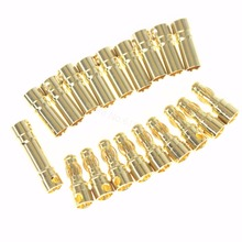 10Set/Lot Female Male 3.5mm Gold Bullet Banana Connectors RC ESC LIPO Battery Device Electric Motor Wire Parts(China)