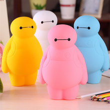New Cartoon Silicone Pencil Case Boys Girls Multifunction pen bag white Pencil Box 4colors Stationery Store School supplies