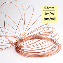 New 0.8mm 20 Gauge Soft Pure Solid Bare Copper Bright Wire Coil for Jewelry Crafts Making 10m or 20m DIY Natural Red Copper Wire(China)