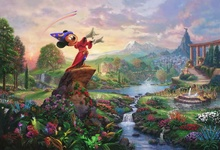 Thomas Kinkade Oil Paintings Tangled Art Decor Painting Giclee Canvas Wall Picture Art Print Home Decoration(China)