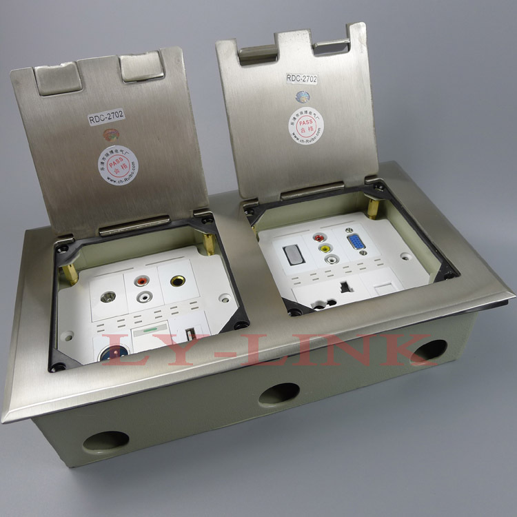 floor socket ground socket to install two 86X86 size wall plate<br>