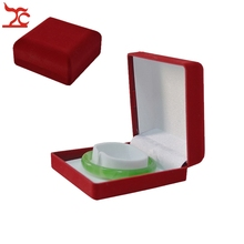 Wholesale Fine 12Pcs Jewelry Display Case Red Velvet Jade Bangle Box  Bracelet Storage Package Gift Box 9*9*3.9cm
