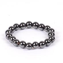 Women Black 6/8/10 Cool Magnetic Bracelet Beads Hematite Stone Therapy Health Care Magnet Hematite Beads Bracelet Men's Jewelry(China)