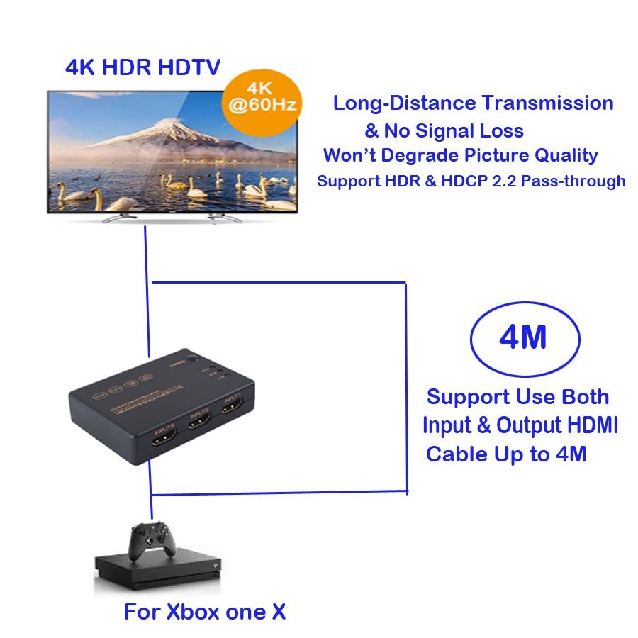 4K 60Hz HDMI 2.0 3X1 HDR Switch (13)