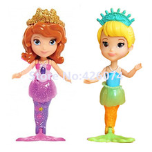 New Fashion Princess Sofia the First Oona Mermaid Mini Figures Dolls For Girls Kids Toys Children Gifts