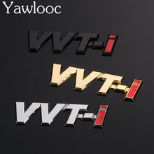 Yawlooc 1 pc/lot 3D Sticker VVT-i Racing Badge Emblem Decal Logo Car-styling Grille Metal Chrome Accessorries For TOYOTA