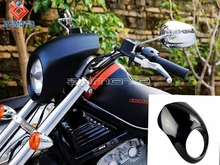 Black ABS Sportster Cafe Biking Front Motorcycle Headlight Fairing Mask For Harley Sporty XL DYNA FXR 1987-2011