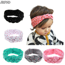 JRFSD 2017 New Cute Headwear Printing Knot Headband Ribbon Elasticity kids Hair Accessories Hair bands KT0