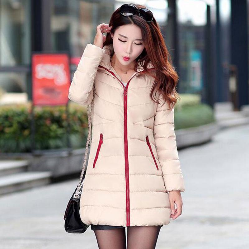 Brand Cotton-padded Winter Jacket Women Medium-long Down Parka Female Jacket Casual Hooded Ladies Coat Plus Size 3XL Women Coat Одежда и ак�е��уары<br><br><br>Aliexpress