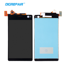 Black For Sony Xperia C4 E5303 E5306 E5333 E5343 E5353 Assembly Replacement LCD Display Touch Screen Digitizer, Free shipping(China)