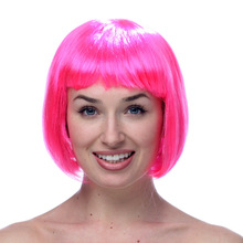 Masquerade Dress Up Headdress Neat Straight Hair Women Cosplay Wig Student Kids Grand Event Show Hats Props Halloween Gifts