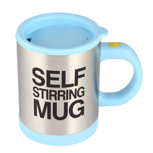 400Ml Mug Automatic Electric Lazy Self Stirring Mug Automatic Coffee Milk Mixing Mug Tea Smart Stainless Steel Mix cup(China)