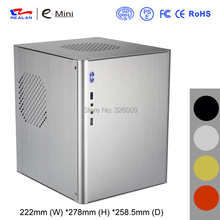 HTPC mini-ITX Chassis, aluminum, USB3.0, 3.5''HDD, Support Stand Power, mini case of HTPC, WIFI COM PCI Audio Ports, Realan D5