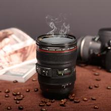 New Coffee Lens Emulation Camera Mug Cup Beer Cup Wine Cup Without Lid Black Plastic Cup&Caniam Logo 480ML Mug(China)
