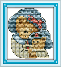 Joy sunday cartoon style Care Bears leisure arts cross stitch embroidery designs patterns mini for christmas gifts