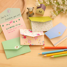 6 PCS Fresh Pastoral Style Mini Creative Love Small Envelope Message Card Paper Postcard Greeting Cards Letter Paper(China)