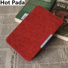 Hot Pada case for pocketbook touch 622 case PU leather 6'' cover case+screen protector(China)