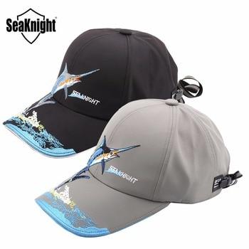 SeaKnight Marque Nouveau Chapeau De Pêche SK001 Hommes Femmes Preuve de L'eau Parasol Respirant Sport En Plein Air Chapeau Noir/Gris pour L'été de pêche