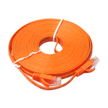 5m 8m 10m Cable FLAT Ethernet 1000Mbps CAT6 Network Cable Connector Patch Lead RJ45 Orange Networking Cable for PC/PS4/Xbox