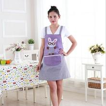 Cute Cartoon Animal Aprons For Woman Kitchen Cooking Apron With Pocket Housewife Household Cleaning Accessories Apron Avental