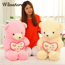 40cm Cuddly Love Teddy Bear Cushion Pillow Toy Soft kids dolls &stuffed Toy girls Plush Dolls Animals Toys Birthday Gifts WW183