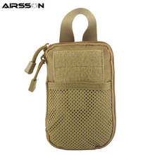 Tactical MOLLE EDC Pouch Accessory Bag Passport Wallet Phone Pocket Pouches Waist Hunting Bags Outdoor Flashlight Magazine Bag
