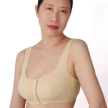 Front 3 buttons Wireless 34 36 38 40 42 44 b c d push up cup cotton underwear bra plus size bra large sleeping classic bra A2