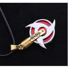 New Anime Naruto Necklace Kakashi Uzumaki Naruto Akatsuki Members Itachi necklace Konoha symbol Pendant Necklace Fashion cosplay
