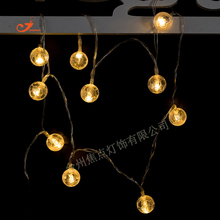 Football 10 LED globe String Light Ball bulb Soccer Battery Operated Fairy Sport Festival Holiday Light Patio Garden Room Decor