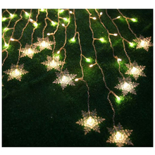 8 Modes 2M*1M 104PCS LED Snowflake Shape LED String Fairy Light Decorative Curtain Lighting For Garden Party Wedding Festival