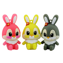 Hot Sale Lovely Rabbit USB Flash Drive Pen Drive 4GB 8GB 16GB USB Stick External Memory Storage Bunny Pen Drive gifts