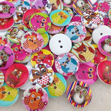 100 pcs Baby Owl Christmas Theme Sewing Tools Buttons For Kid's Craft Decoration WB81