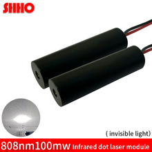 Buy Discount invisible light 808nm 100mw infrared dot laser module 10*30mm IR signal transmitter radar ranging laser focusing piont for $11.09 in AliExpress store