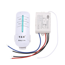 1 Way Port 200V-240V Wireless Remote Control Light Switches Digital Remote Control Switch for Led Lamp Exhaust fan