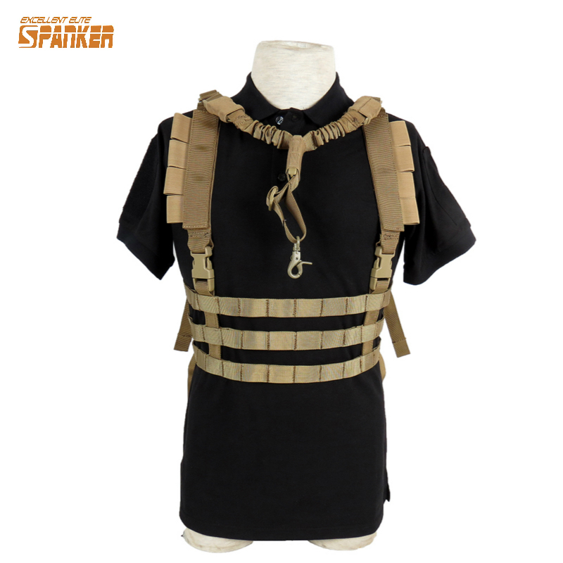 Tactical Molle Vest Ammo Chest Rig Removable Gun Sling Hunting Airsoft Paintball Gear<br>