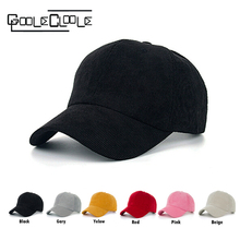 Fashion 2016 High quality Baseball Cap corduroy Adjustable Solid color Cotton cap Leisure Casual Unisex couple HAT Snapback cap