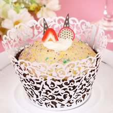 50PCS/Lot Little Vine Lace Laser Cut Paper Cupcake Wrapper Liner Baking Cup For Home Wedding Birthday Festive Party Decoration