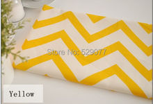 Special offer Retro yellow and white geometric stripes Linen fabrics Tablecloths, cloth cushion pillow linen fabric W012-2(China)