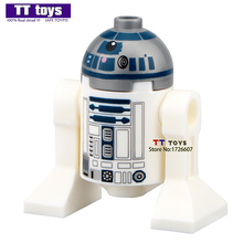 Single Sale IN-stock R2D2 Star Wars 7 The Force Awakens Mini Dolls Building Block Best Children Gift Toys