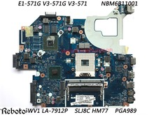 NBM6B11001 Classy Motherboard For Acer Aspire E1-571G V3-571G V3-571 Motherboard Chipset SLJ8C HM77 PGA989 DDR3 Fully Tested