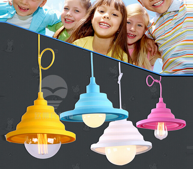 Home Decoration Lighting NEW Vintage Edison Pendant Lights Creative DIY Droplight Rainbow Pendant Lamp Colourful<br>