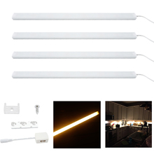 0.5m LED Rigid Bar Light DC 12V 40W Kitchen Under Counter Rigid Strip LED Light Cabinet Lamp for Display Case Jewelry Show
