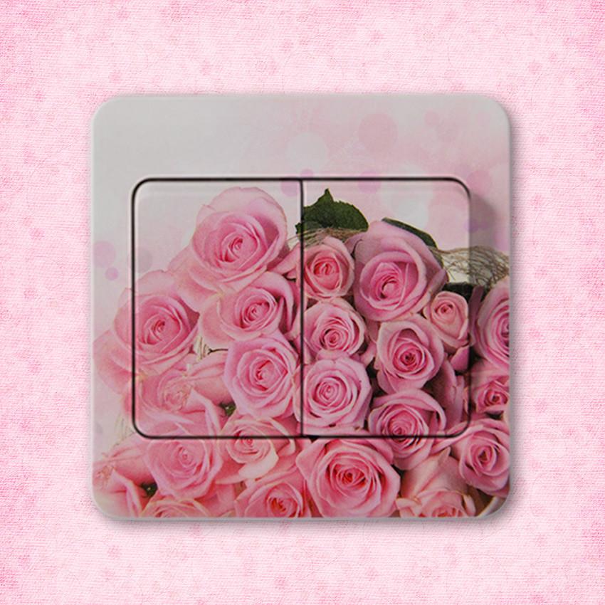HTB1bXm8NFXXXXbsXVXXq6xXFXXXy - 10 PCS High Quality Flower Series PVC Switch Stickers