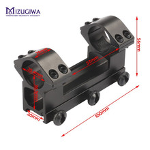 MIZUGIWA 25.4 mm One Piece Rifle Scope Double Scope Rings Dovetail Ring Adapter 20mm Weaver Picatiiny Rail Pistol Airsoft(China)